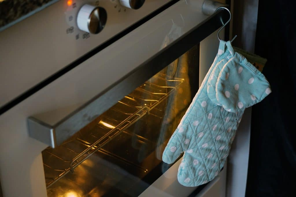 Monica Nelson's oven being preheated for her quinoa mac n cheese